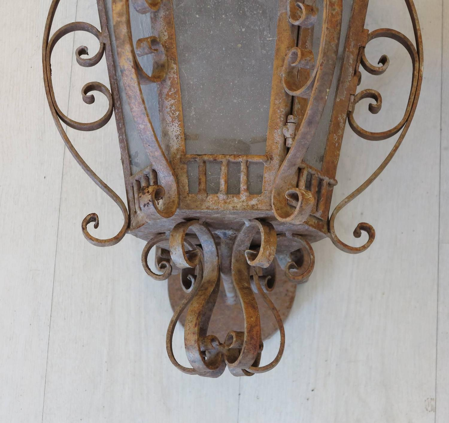 Metal Outdoor Wall Sconces : Wrought Iron Outdoor Wall Sconces at 1stdibs