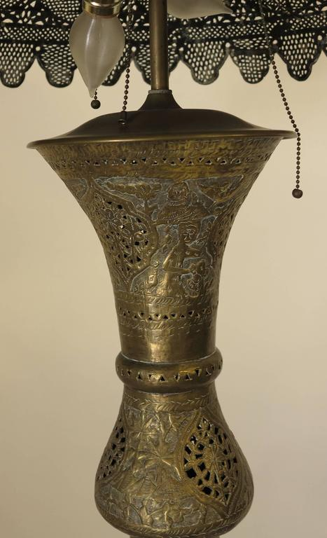 Middle Eastern Pierced Brass Floor Lamp At 1stdibs