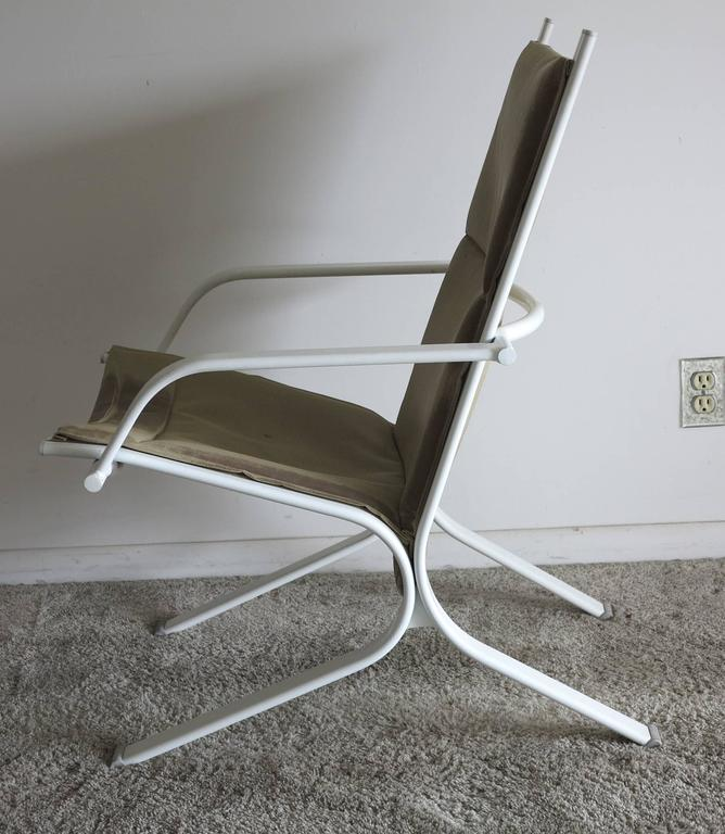 Mid-Century Modern Vintage Brown Jordan Elan Collection Four Patio Chairs, 1980s