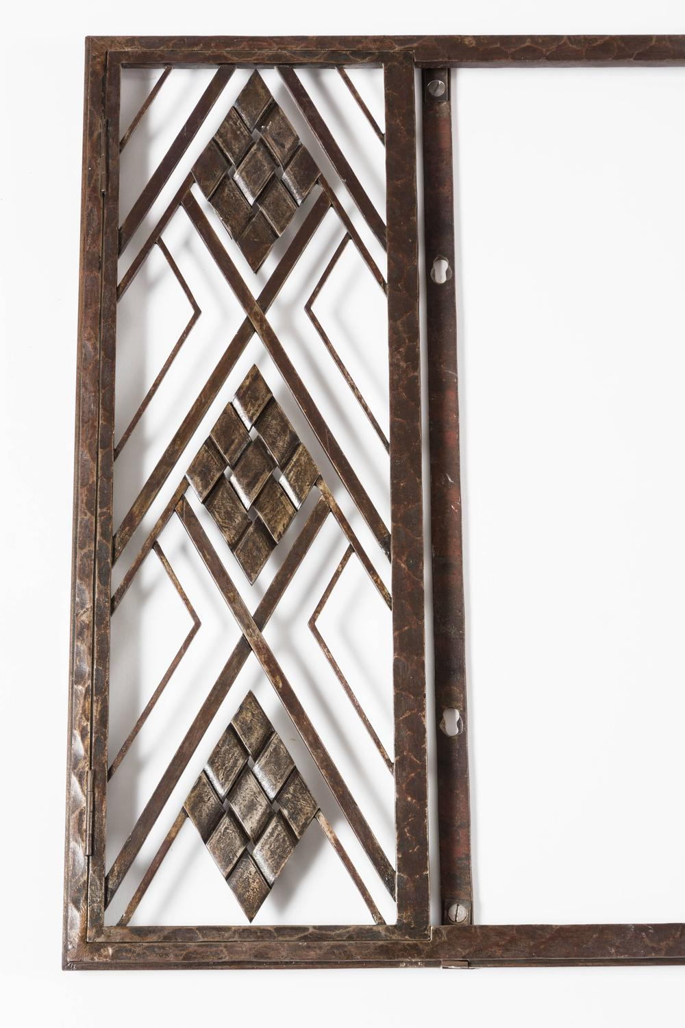 Welded art deco period mirror at 1stdibs for Art deco period