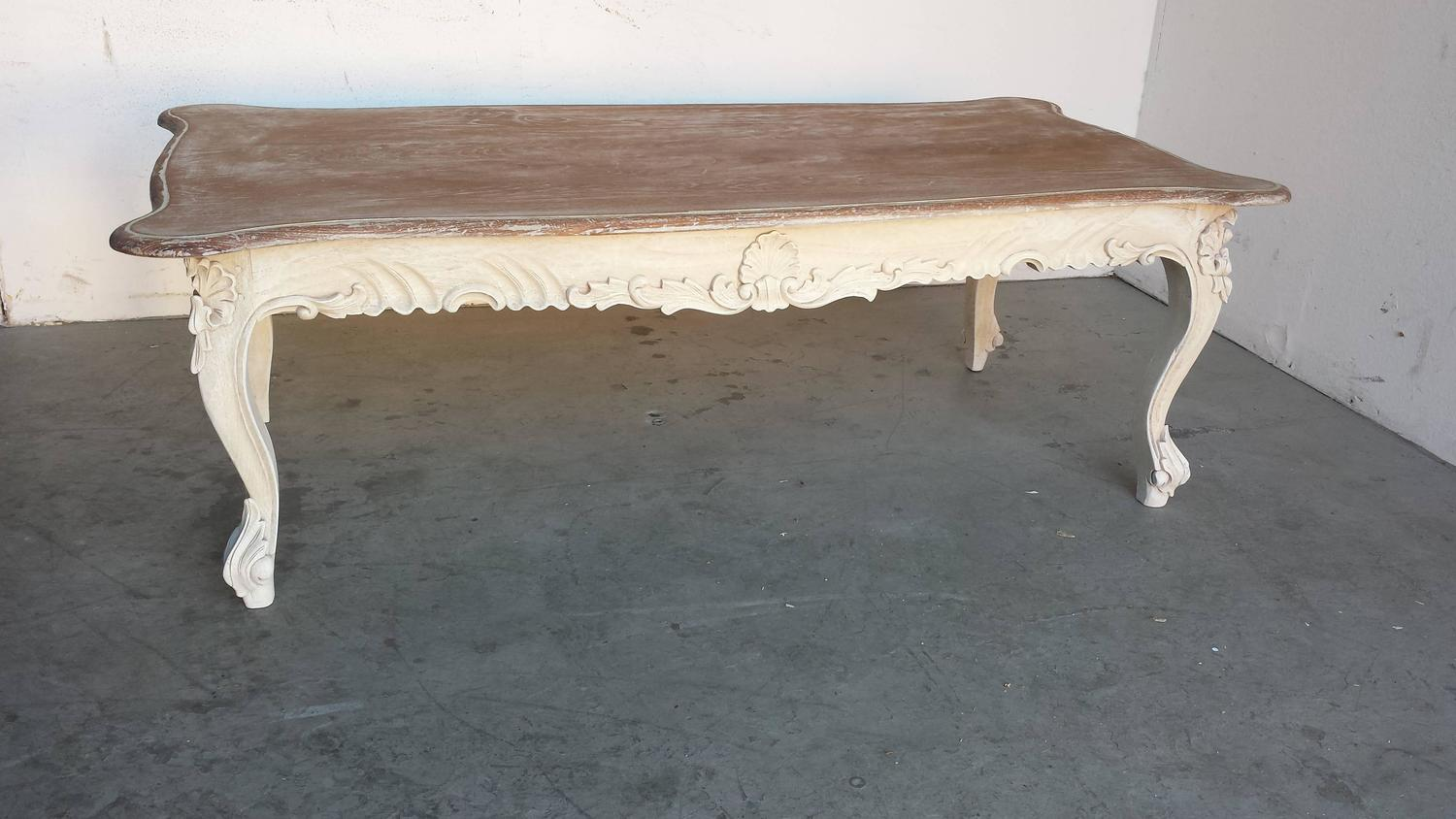 Coffee Table French Country Style Carved Coffee Table For Sale At 1stdibs