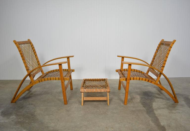Carl Koch Pair Of Quot Sno Shu Quot Chairs And Ottoman For Sale At