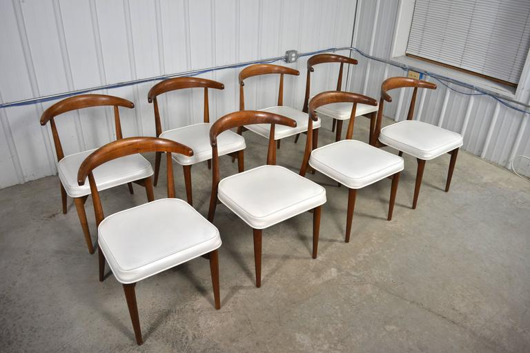 Lawrence Peabody Mid Century Modern Dining Chairs Set Of Eight At 1stdibs