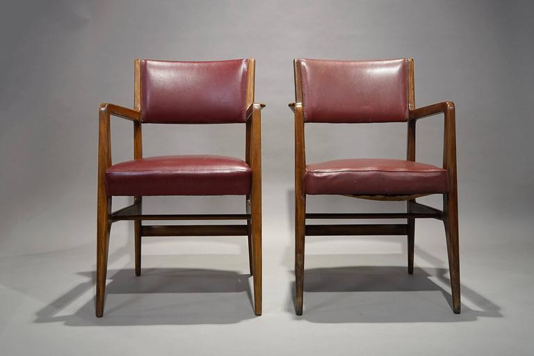 Mid-Century Modern Pair of Armchairs by Gio Ponti, Cassina, 1950 For Sale