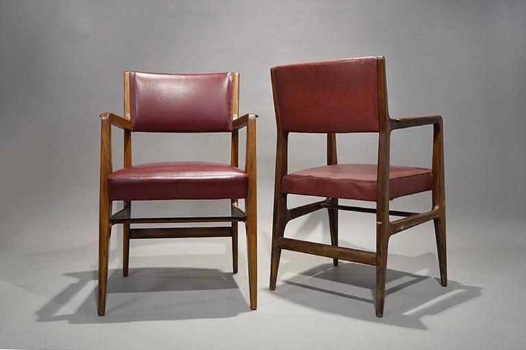 Italian Pair of Armchairs by Gio Ponti, Cassina, 1950 For Sale