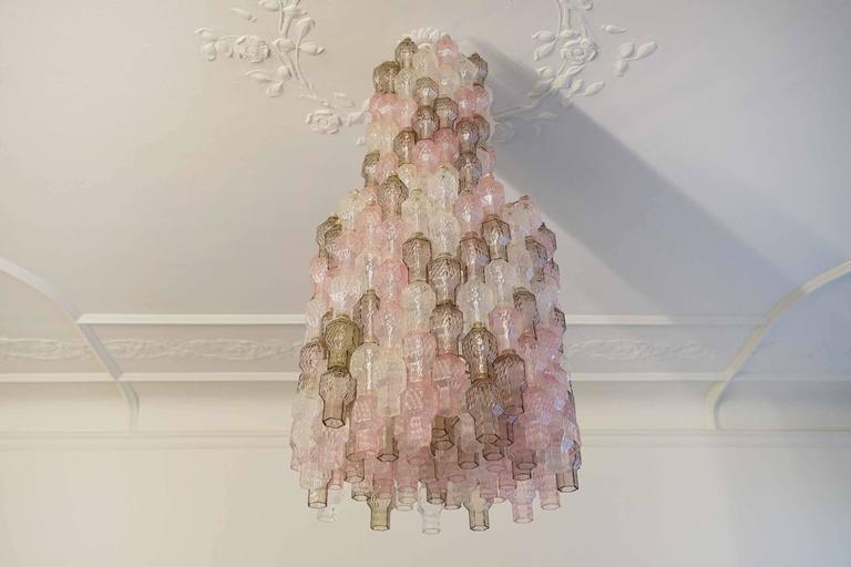 Chandelier by Archimede Seguso, Italy, circa 1958, Prod. Segues Murano.