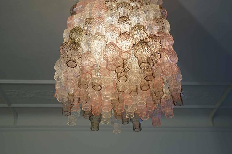 Chandelier by Archimede Seguso, Seguso Murano, Italy, circa 1958 In Excellent Condition In Berlin, DE