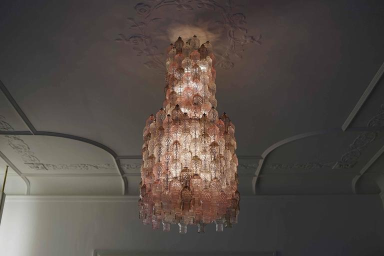 Mid-20th Century Chandelier by Archimede Seguso, Seguso Murano, Italy, circa 1958 For Sale