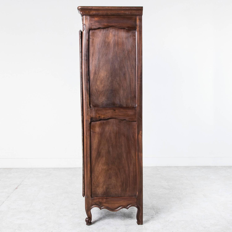 Solid French Walnut Louis Xv Style Bonnetiere Single Door