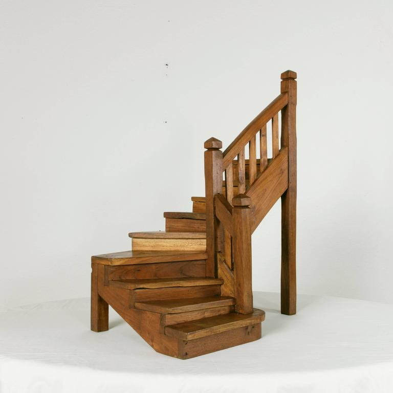 Large Antique French Architectu0027s Model Of A Winding Staircase In Excellent  Condition For Sale In Fayetteville