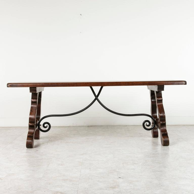 This Beautifully Carved Spanish Renaissance Style Dining, Console Or Sofa  Table Features A Hand