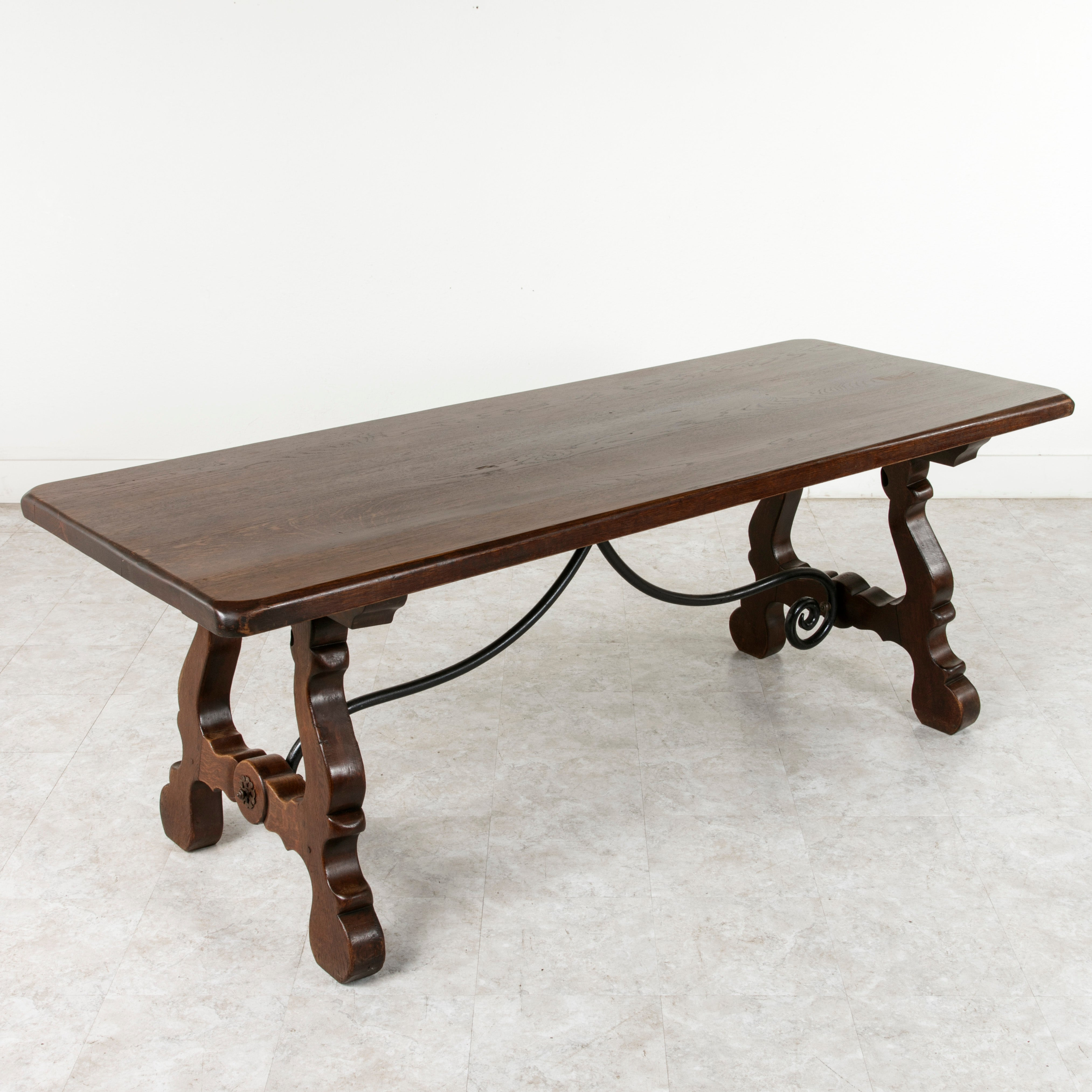 Spanish Renaissance Style Dining Table Sofa Console Oak And Iron For At 1stdibs