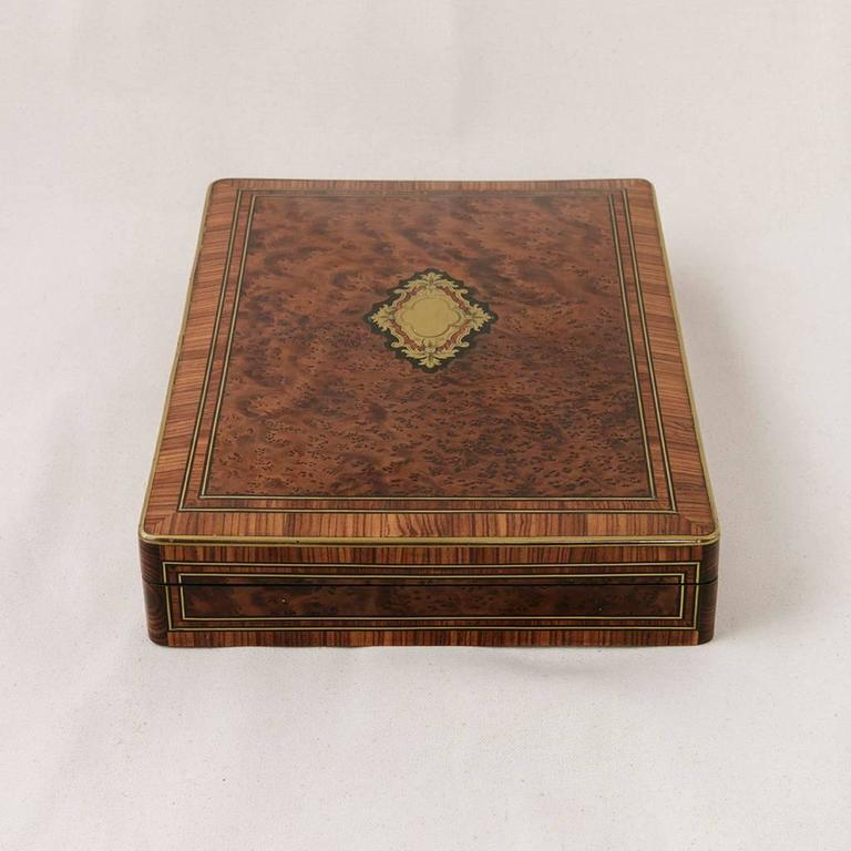 Rare Signed Paul Sormani Marquetry Game Box with Mother-of-Pearl Gambling Chips  For Sale 1