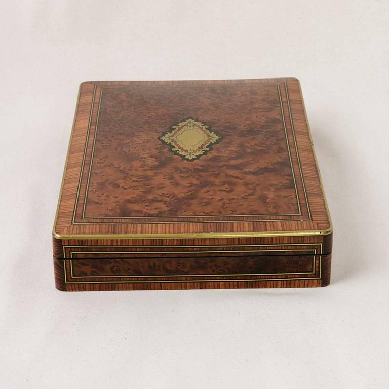 Rare Signed Paul Sormani Marquetry Game Box with Mother-of-Pearl Gambling Chips  For Sale 3