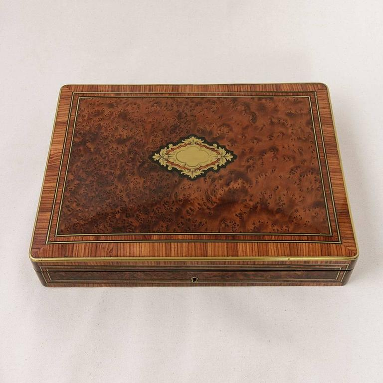 Rare Signed Paul Sormani Marquetry Game Box with Mother-of-Pearl Gambling Chips  For Sale 4