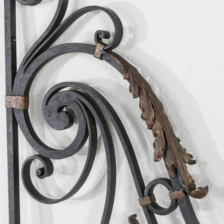 Pair Of Hand Forged Iron Gates Or Partitions Double Sided