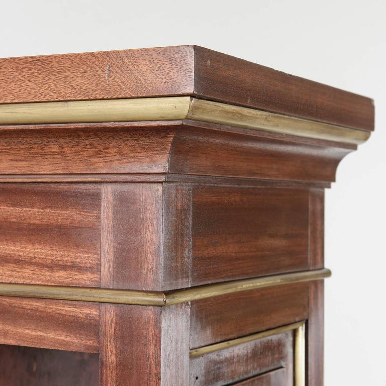 Pair mid century louis xvi style mahogany bookcases bibliotheques bronze deta - Bibliotheque 16 cases ...