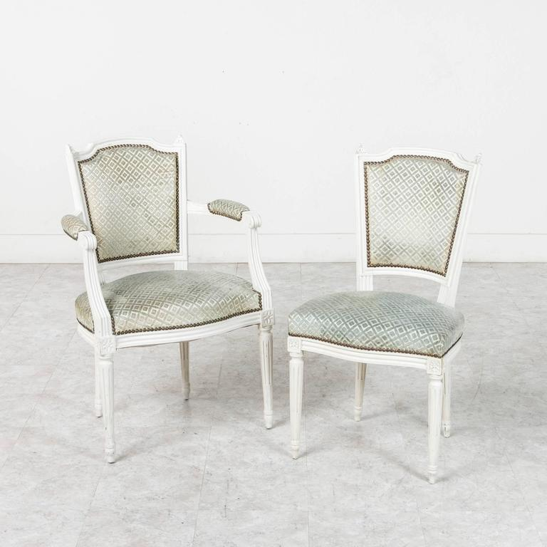 This Elegant Set Of Louis XVI Style Dining Chairs Is Constructed Of Solid  Wood And Finished
