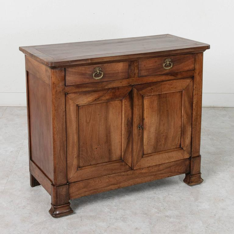 19th century walnut louis philippe period buffet or sideboard at 1stdibs. Black Bedroom Furniture Sets. Home Design Ideas