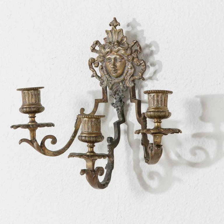 19th Century Napoleon III Period Bronze Candle Sconce with ...