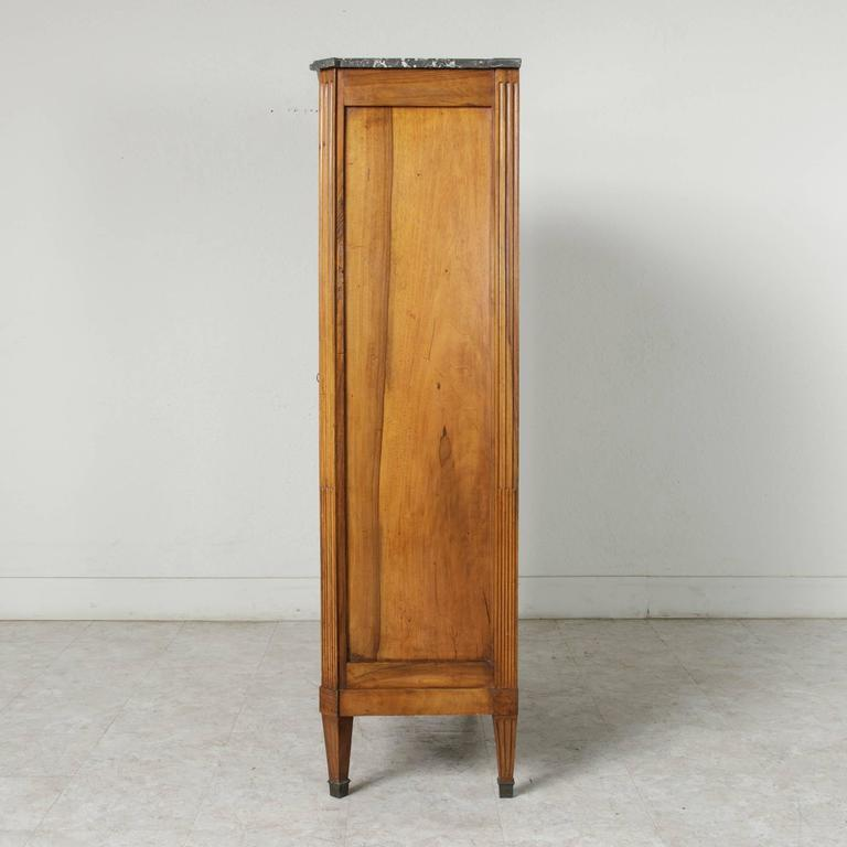 Early 19th Century French Louis Xvi Period Walnut Bibliotheque Bookcase Vitrine For Sale At 1stdibs
