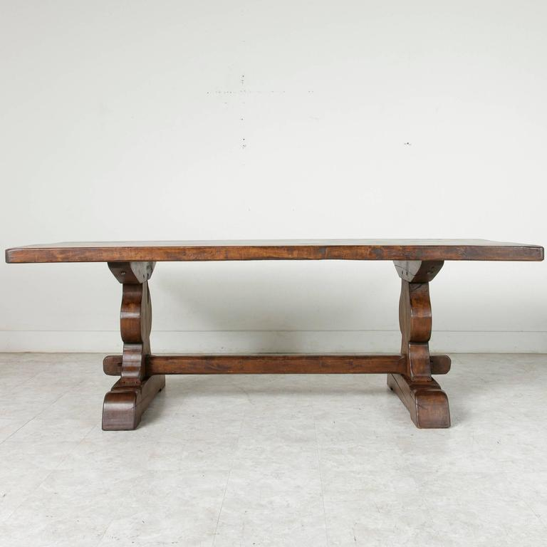 French Farm Table Dining Table with Trestle Made of Alder  : 17A26402l from www.1stdibs.com size 768 x 768 jpeg 33kB