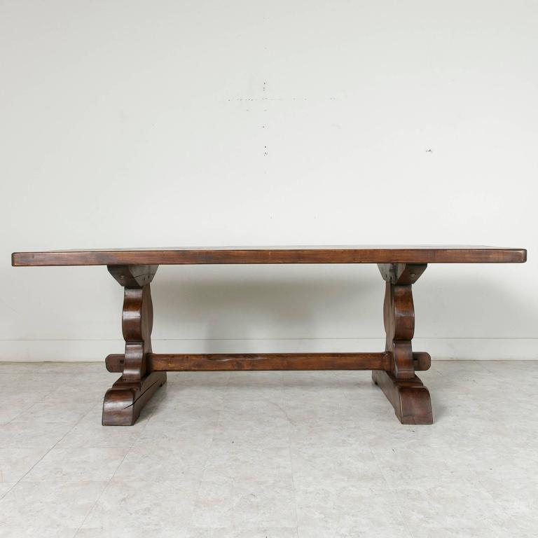 French Farm Table Dining Table with Trestle Made of Alder  : 17A26406l from www.1stdibs.com size 768 x 768 jpeg 32kB