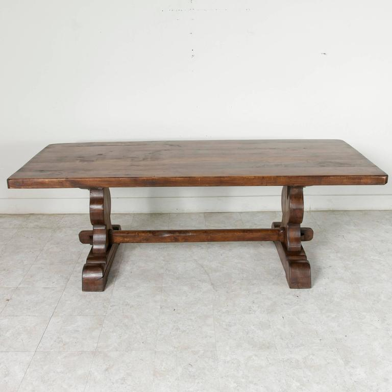 French Farm Table Dining Table With Trestle Made Of Alder Wood 2
