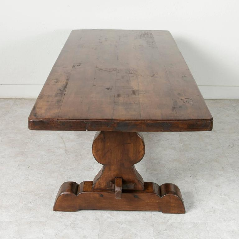 French Farm Table Dining Table with Trestle