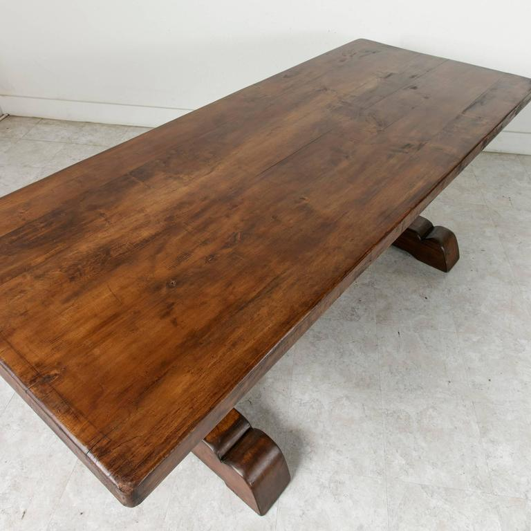 French Farm Table Dining Table with Trestle Made of Alder  : 17A26409l from www.1stdibs.com size 768 x 768 jpeg 57kB