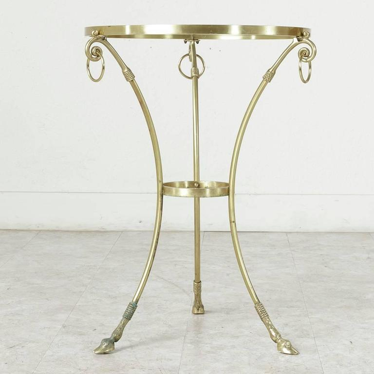 Mid-20th Century Maison Charles Bronze Gueridon or Side Table with Glass Top 6