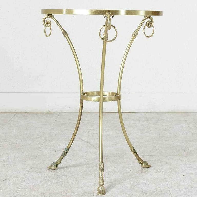 Mid-20th Century Maison Charles Bronze Gueridon or Side Table with Glass Top 8