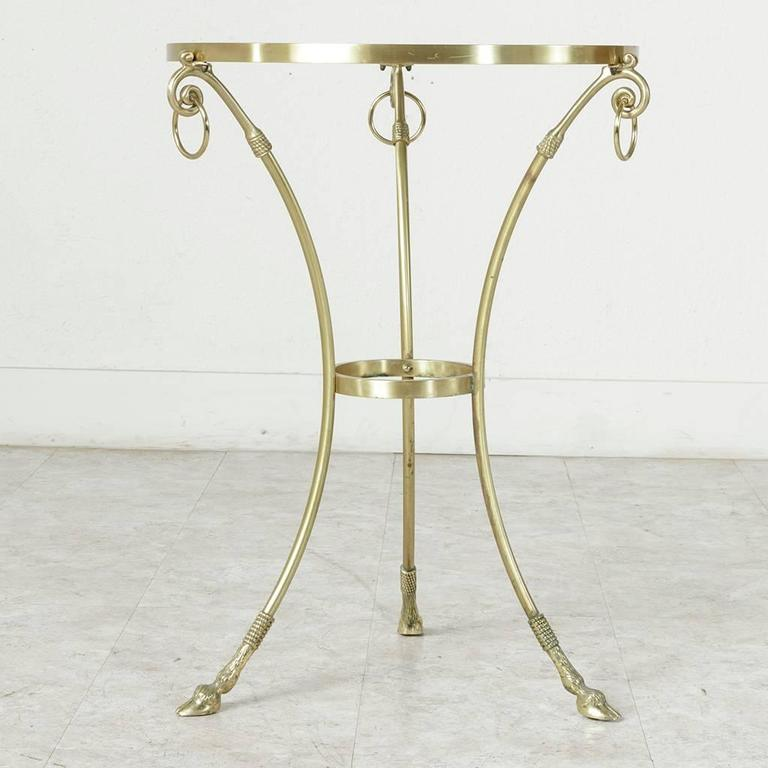 Mid-20th Century Maison Charles Bronze Gueridon or Side Table with Glass Top For Sale 5