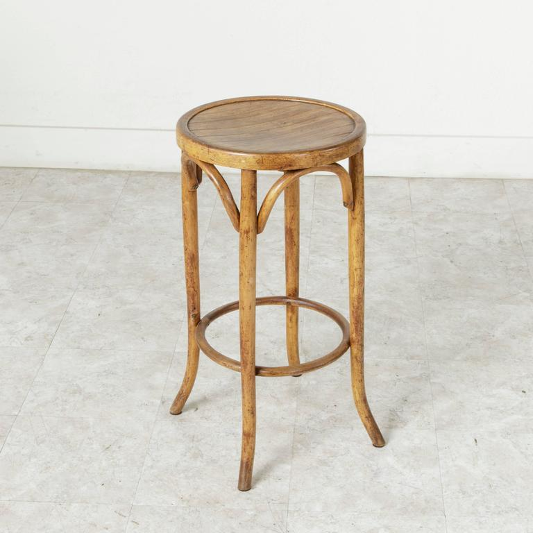 This Early 20th Century French Bar Stool In The Thonet Style Stands At  Counter Height Thonet A34