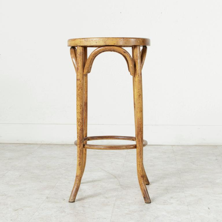 Early 20th Century French Bentwood Bar Stool Thonet Chair