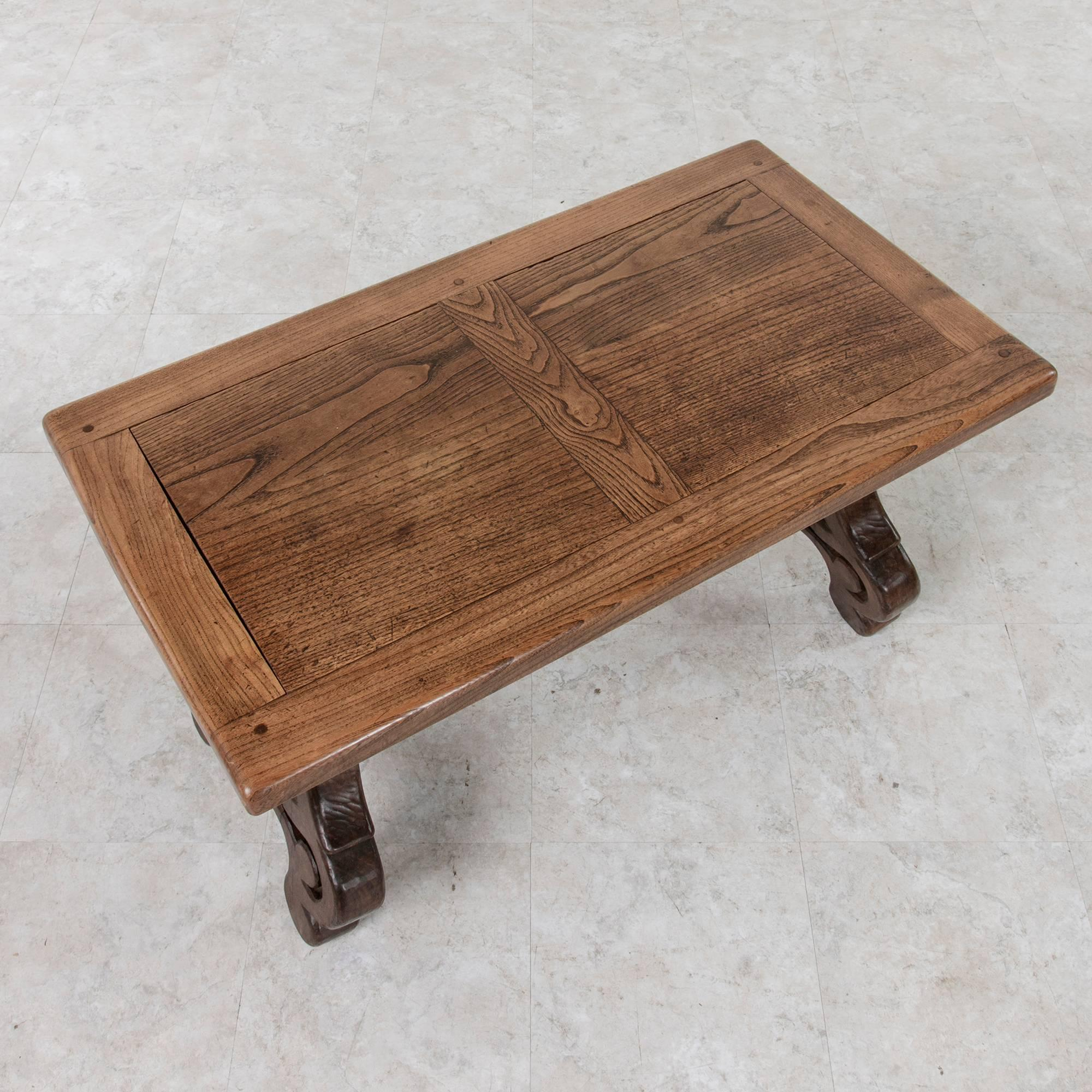 With The Warm Tones Of The Wood That Give It An Old World Feel, This.  Spanish Colonial Early 20th Century Spanish Style Oak Coffee Table ...