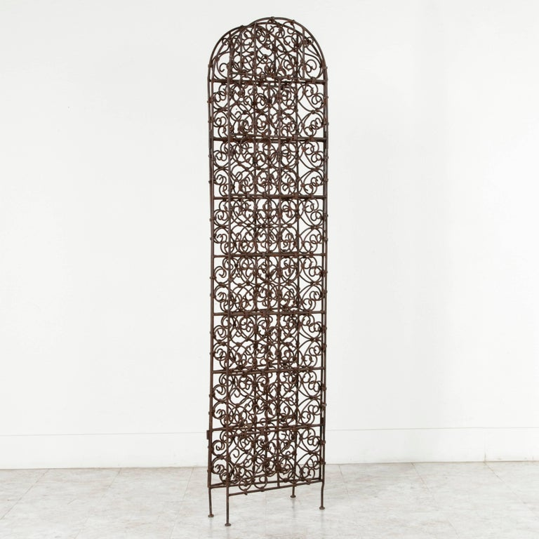 Hand-Forged Moroccan Iron Folding Screen, Room Divider, Garden Screen For Sale 1