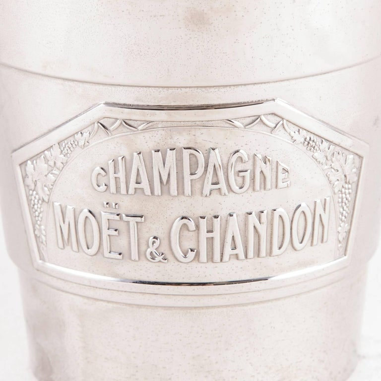 French Art Deco Period Small-Scale Silver Plate Moet et Chandon Champagne Bucket For Sale 3