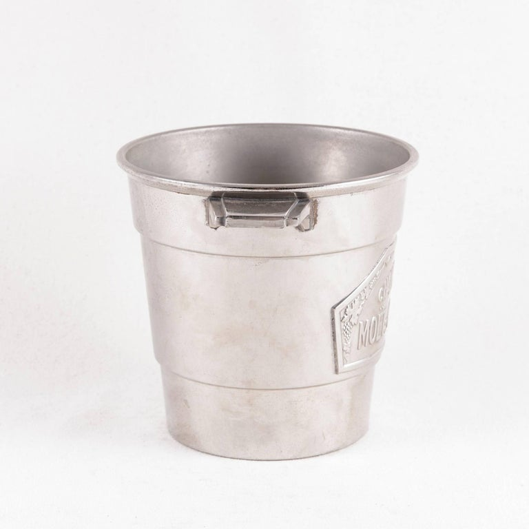 French Art Deco Period Small-Scale Silver Plate Moet et Chandon Champagne Bucket For Sale 2