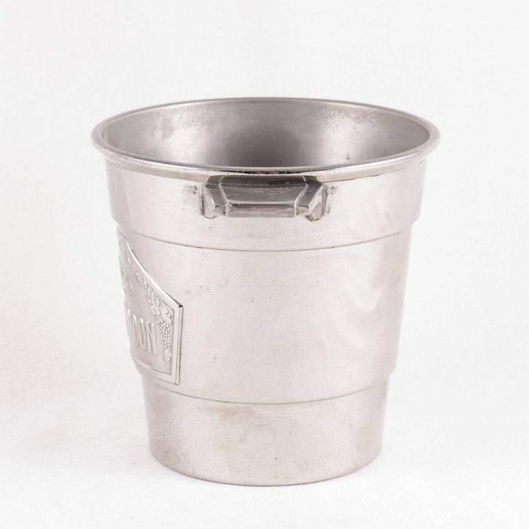 Mid-20th Century French Art Deco Period Small-Scale Silver Plate Moet et Chandon Champagne Bucket For Sale
