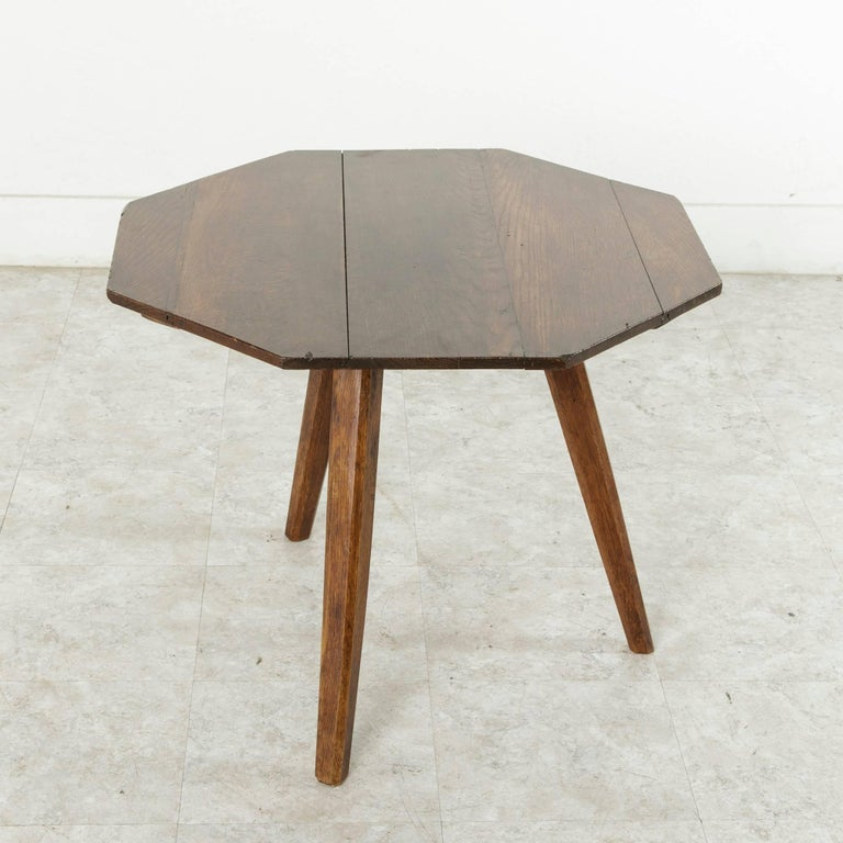 French Artisan Made Octagonal Oak Side Table Or Coffee Table Circa 1900 For Sale At 1stdibs
