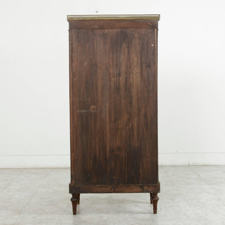 19th Century French Louis XVI Mahogany and Bronze Vitrine, Display Cabinet, Case For Sale 2