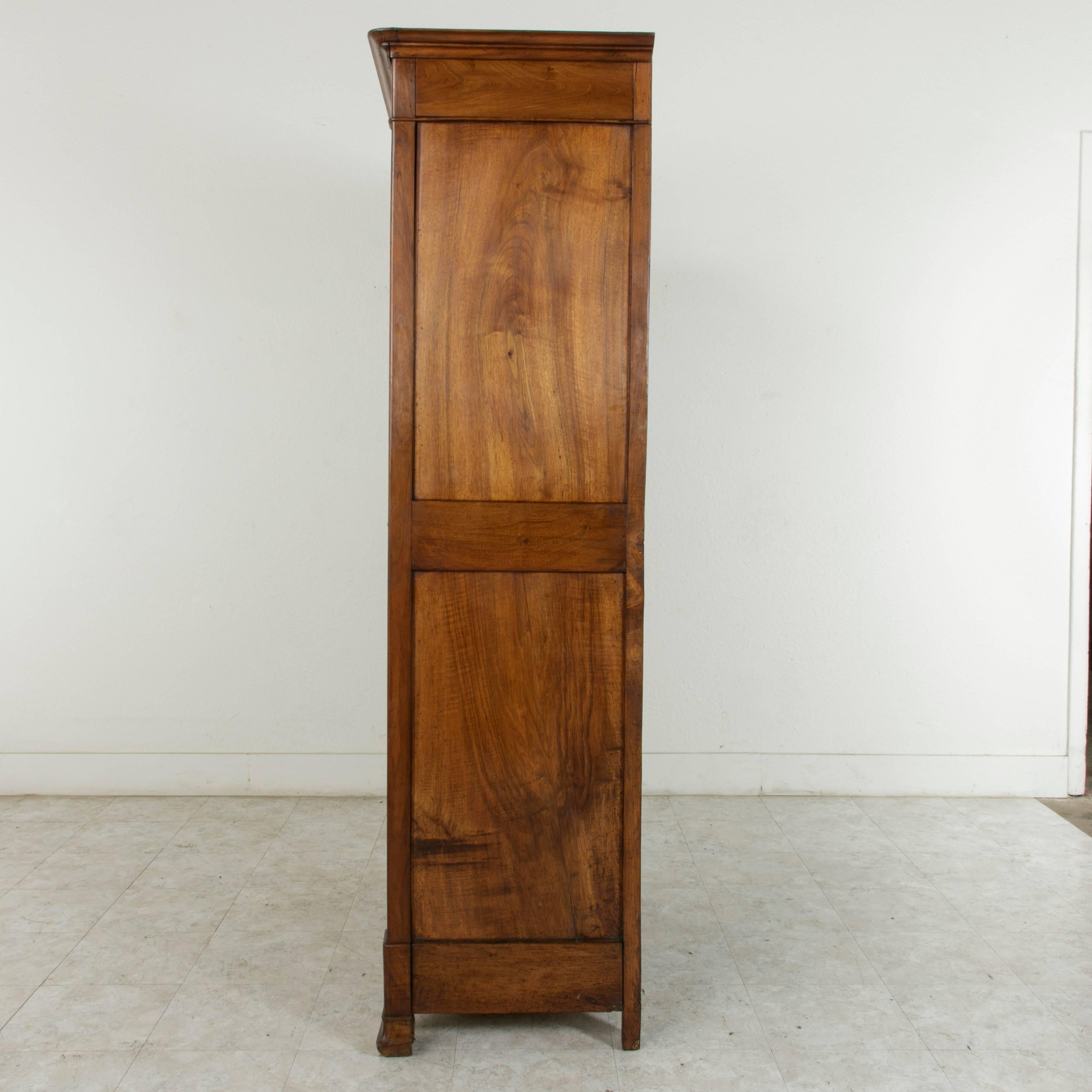 Small Scale Mid 19th Century French Louis Philippe Period Walnut Armoire At  1stdibs