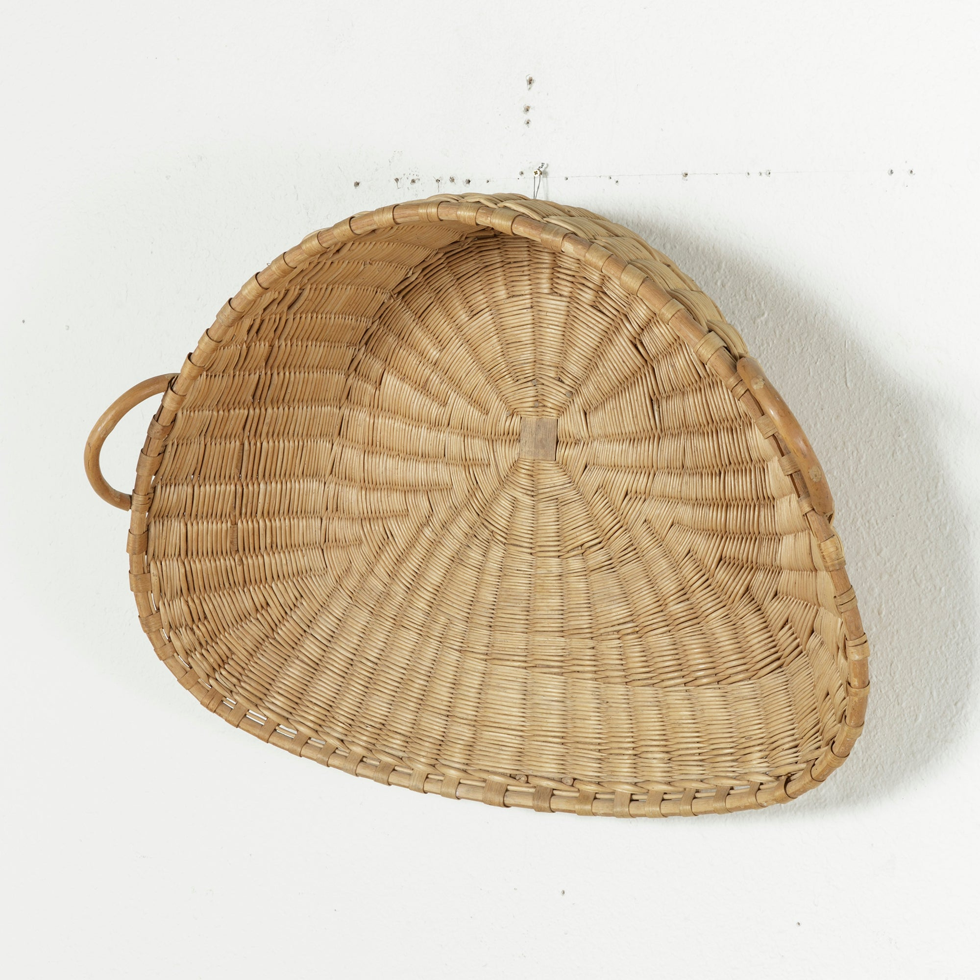 Large 19th Century French Winnowing Basket or Three Dimensional Wall ...