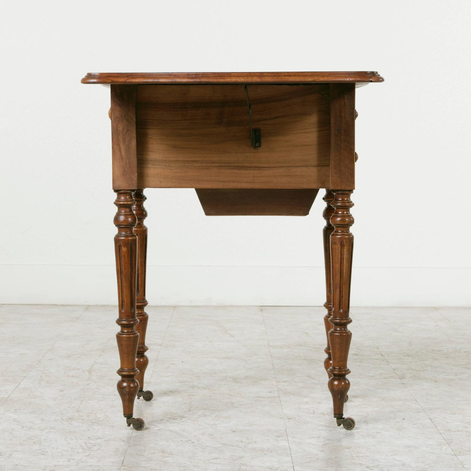 Double faced bookmatched walnut louis philippe side table for Table louis philippe
