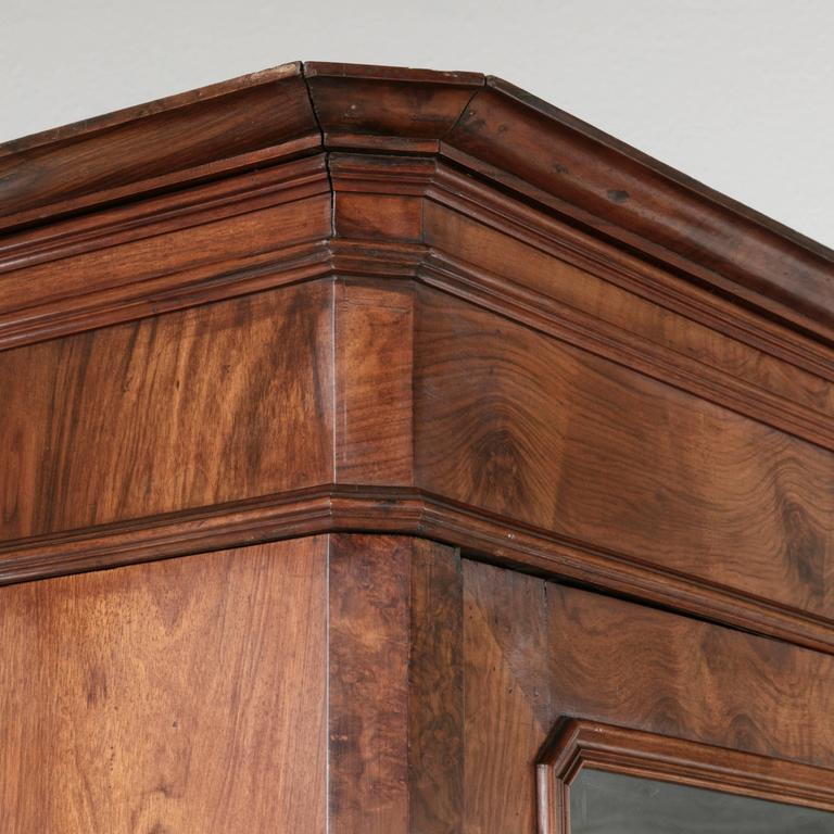 Period Louis Philippe Bookcase Biblioth Que Or Vitrine Of Burled Walnut For Sale At 1stdibs