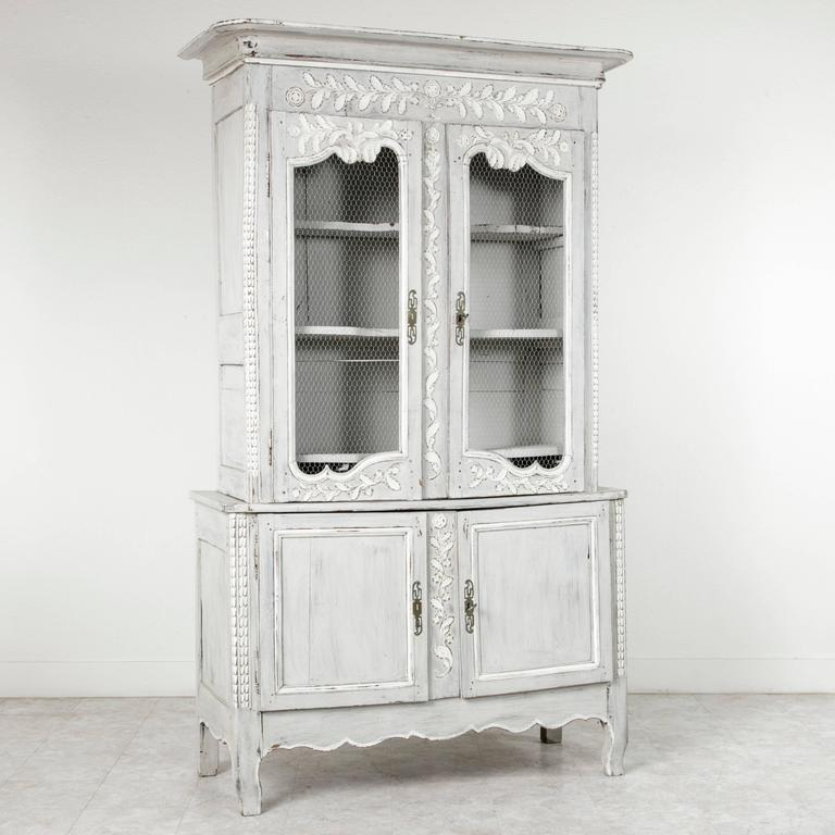 Hand Carved Louis Xvi Style Painted French Buffet Deux