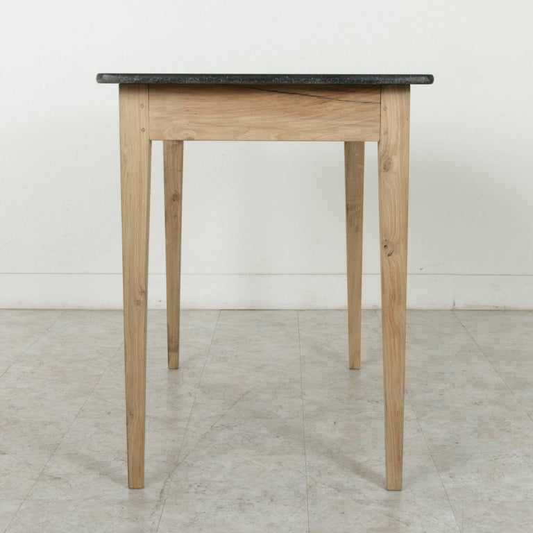 36in high french oak pastry table or kitchen island with