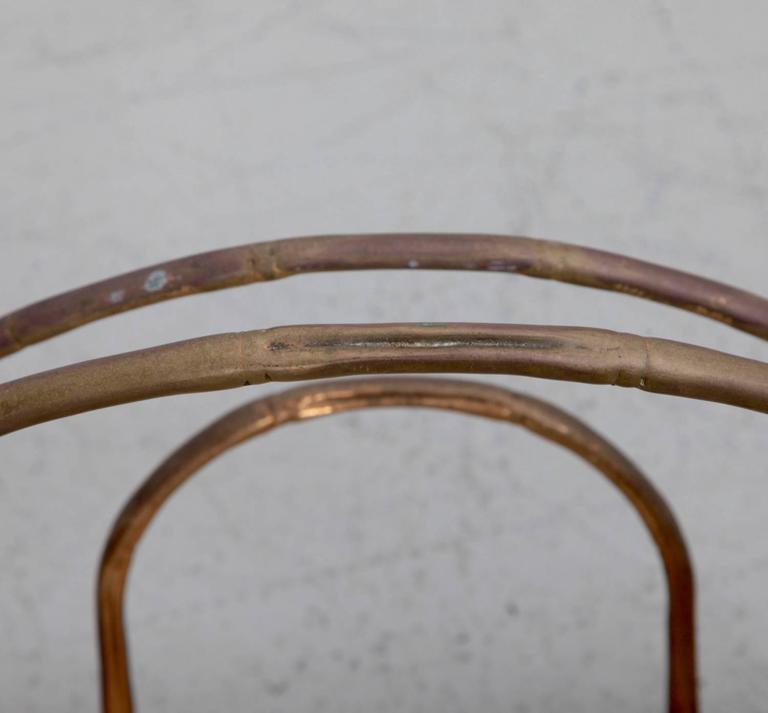 Brass Magazine Faux Bamboo Stand In Excellent Condition For Sale In Berlin, DE