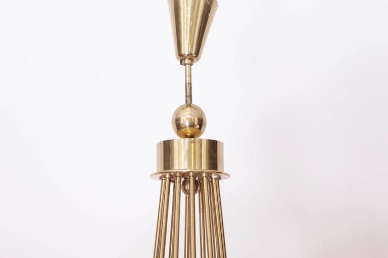 Huge Brass Sputnik Twelve-Light Chandelier For Sale 1